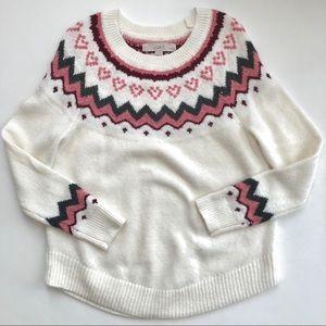 LOFT Swingy Fairisle Sweater